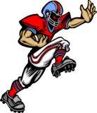 美国动画片足球运动员向量 库存图片