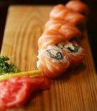 食物传统日本的卷 免版税图库摄影