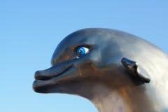 海豚雕象 免版税图库摄影