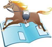 участвовать в гонке весточки лошади Стоковые Фото