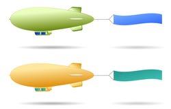 软式小型飞艇 免版税图库摄影