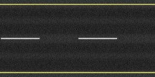 текстура петляющей дороги асфальта Стоковые Изображения