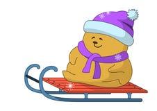 игрушечный розвальней медведя Стоковая Фотография