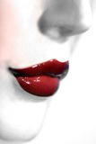 губы красные Стоковые Изображения