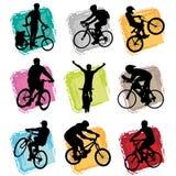 自行车集 库存照片