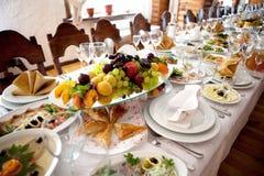 宴会桌 库存图片