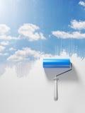 συρμένος ουρανός Στοκ φωτογραφία με δικαίωμα ελεύθερης χρήσης