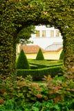 详细资料欧洲庭院 免版税库存照片