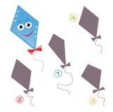 比赛风筝形状 库存照片