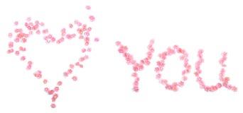 μήνυμα ρομαντικό Στοκ φωτογραφία με δικαίωμα ελεύθερης χρήσης