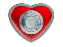 ασφάλεια καρδιών έννοιας Στοκ εικόνα με δικαίωμα ελεύθερης χρήσης