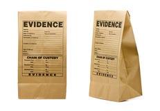 袋子证据 库存照片