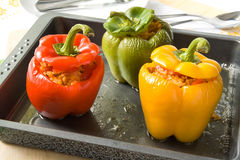 πιπέρια που γεμίζονται Στοκ Φωτογραφία