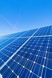 可选择能源太阳工厂的次幂 库存图片