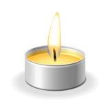 蜡烛白色 免版税库存图片