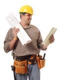 复核工作的纸张 免版税库存照片