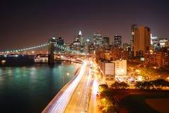 Απασχολημένη κυκλοφορία πόλεων της Νέας Υόρκης Στοκ Εικόνες