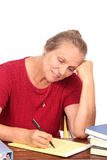 счастливый сочинитель учителя Стоковые Изображения RF