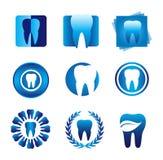 现代牙齿的徽标 库存图片