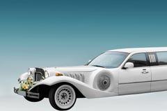 大型高级轿车婚礼白色 库存图片