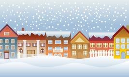 зима городка Стоковое Изображение RF