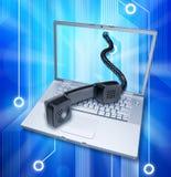 计算机互联网电话录影 免版税库存照片