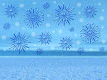 圣诞节横向雪 库存图片