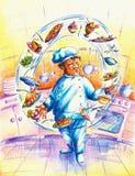 шеф-повар Стоковое Изображение