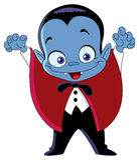 开玩笑吸血鬼 免版税库存照片