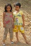 柬埔寨女孩一点 免版税库存照片