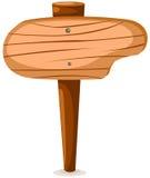 空白符号木头 免版税图库摄影