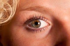 美丽的眼睛妇女年轻人 免版税库存图片