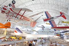航空博物馆空间 库存图片