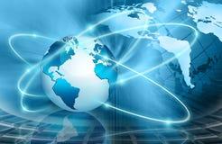 最佳的企业浓缩的概念全球互联网 免版税库存图片