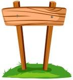 空白符号木头 免版税库存照片