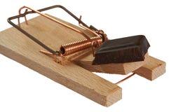 παγίδα σοκολάτας Στοκ φωτογραφία με δικαίωμα ελεύθερης χρήσης