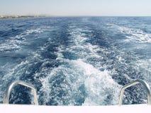 后侧方小船 免版税图库摄影