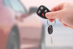 汽车锁上遥控 免版税库存照片