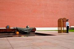 卫兵荣誉称号克里姆林宫莫斯科墙壁 免版税库存图片