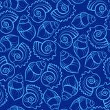 раковина моря картины безшовная Стоковое фото RF