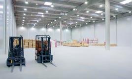 εσωτερική αποθήκη εμπορ& Στοκ φωτογραφία με δικαίωμα ελεύθερης χρήσης