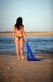 голубой шарф Стоковое Изображение RF