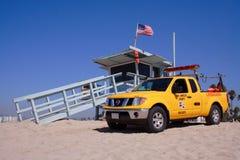 海滩小屋救生员威尼斯 免版税库存图片