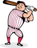 棒球棒动画片球员 免版税图库摄影