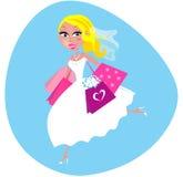 请求新娘购物 免版税库存图片