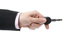 πλήκτρο χεριών Στοκ φωτογραφία με δικαίωμα ελεύθερης χρήσης