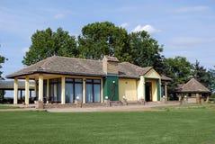 俱乐部高尔夫球房子 图库摄影