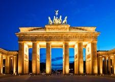 πύλη του Βερολίνου Βραδ& Στοκ Φωτογραφίες