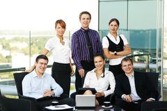 有的商业会议人员六个年轻人 免版税库存图片