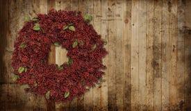 圣诞节国家(地区)花圈 免版税库存照片